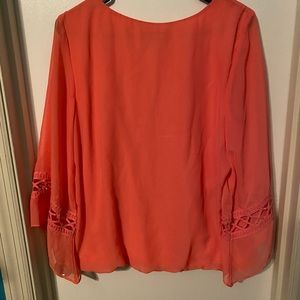AGB pink long sleeve blouse
